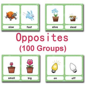 40Pcs/Set Synonyms Antonyms English Word Learning Card