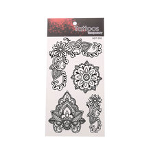 Creative Black Waterproof Tattoo Stickers Unisex Body Art Tattoo Stickers Exquisite Pattern Tattoo Stickers цена