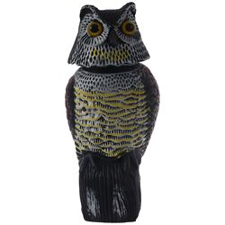 Große Realistische Eule Lockvogel Rotierenden Kopf Unkraut Schädlingsbekämpfung Crow Scarecrow