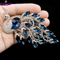 SALE Peacock Brooches Rhinestone Animal Pins Broaches Women Jewelry Accessories Birthday Gifts 6543