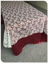 Красная кружевная прямоугольная скатерть для свадебного банкета отельный Настольный чехол вечерние принадлежности домашний текстиль - Цвет: White