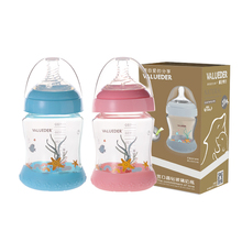 Glass Baby Bottles 180ML High Borosilicate Heat Reasistant Transparent Non-slip Milk Bottle