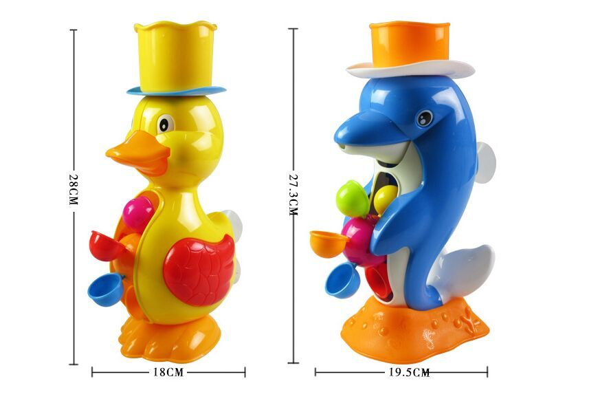 New Listing Children Faucet Bath Toy Baby Bath Duck&dolphin Toys In Bathroom Kids Water Spraying Tool Gift For Boys Girls Babys