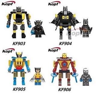 10Sets Single Sale Mavel Black Panther Batman Iron Man X-Man Wolverine Buster Figures Building Blocks Assemble Figures Toys liss david black panther the man without fear volume 1
