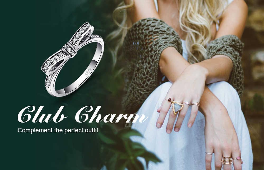 JewelryPalace Bowknot Cubic Zirconia แหวน 925 เงินสเตอร์ลิงแหวนเงินผู้หญิงแหวนเงิน 925 เครื่องประดับ Fine เครื่องประดับ