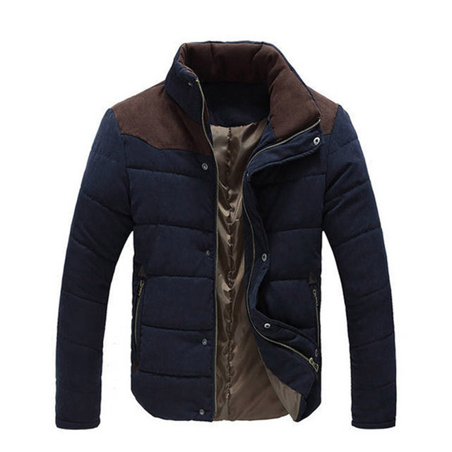 Best Price 2018 Winter Jacket Men Warm Causal Parkas Cotton Coat Male Outwear Coat Size M-4XL