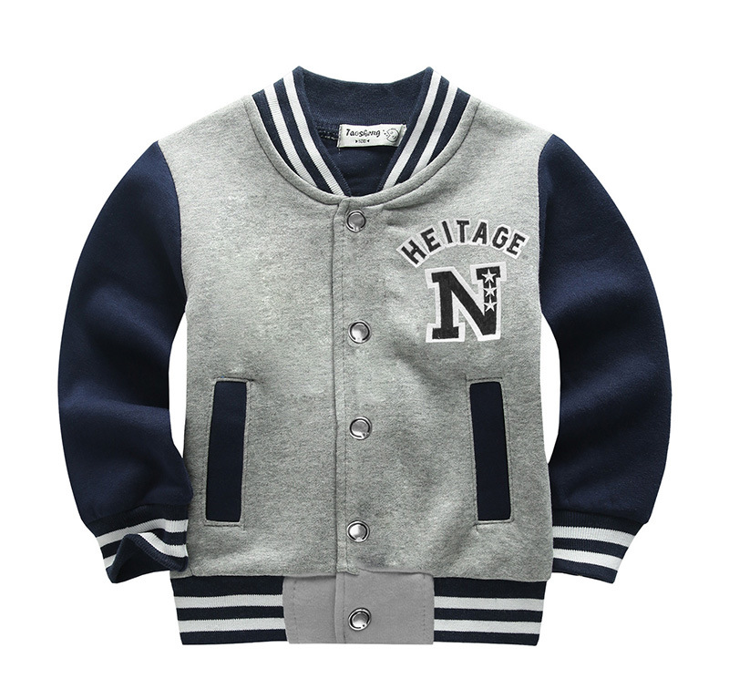 School Baseball Coats for Student Boys Girls Spring Jacket Children's Autumn Sports Basketball Running Clothes for Kids A73 3