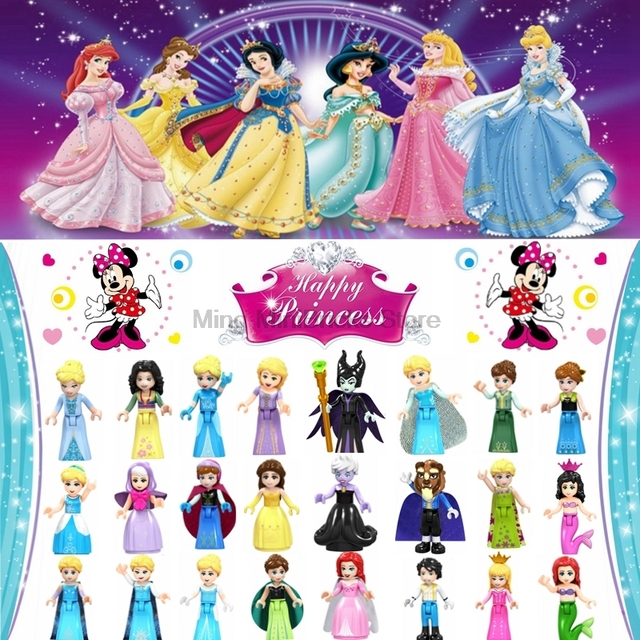 Legoing Friends Belle Ursula Legoing Princess Girl Maleficent Building Blocks Children For Toys Compatible Legoings Figures