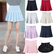 Спортивная юбка для тенниса, Женская юбка для йоги, фитнеса, плиссированная короткая дышащая быстросохнущая юбка для бадминтона, нижнее бел...