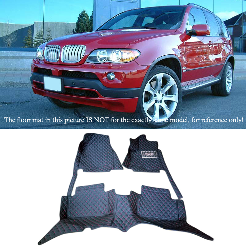 2004-2006  for  BMW X5 E53 2004 2005 2006  Accessories  Interior Leather Carpets Cover Car floor  Foot Mat Floor Pad 1set only fit 7 seats for ford everest suv 4dr 2015 2016 accessories interior leather carpets cover car foot mat floor pad 1set