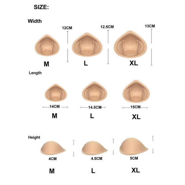 1 Pair Realistic Strap Sponge Breast Forms Fake Boobs Enhancer Bra Padding Inserts For Swimsuits Crossdresser  Cosplay 2