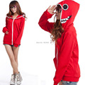 Hatsune Miku red gumi cosplay chaqueta de lechuga romana del traje de las sudaderas con capucha Matryoshka muñeca ropa deportiva sudaderas mujer