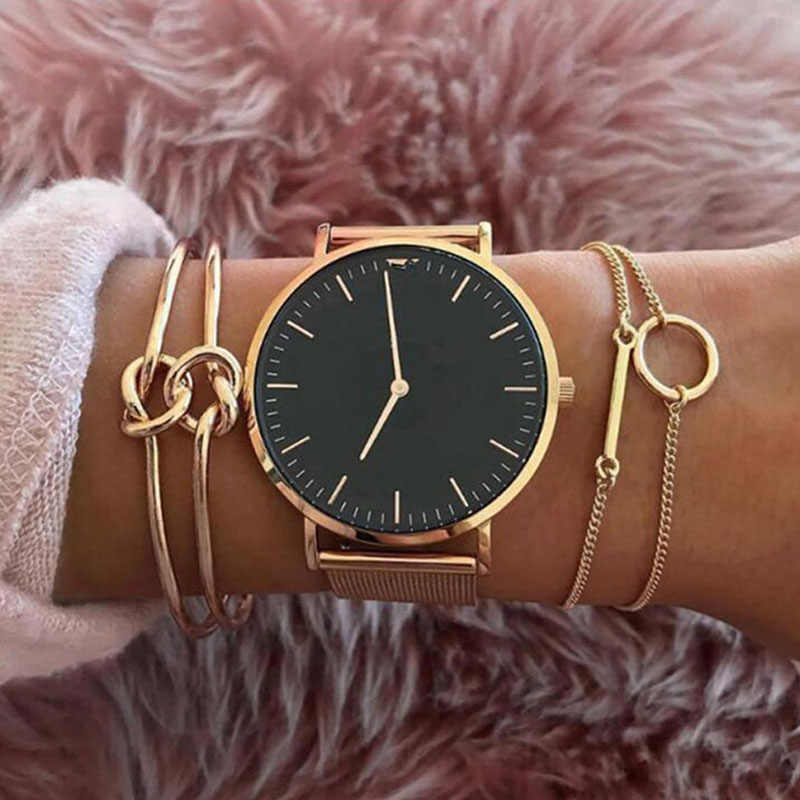 ISINYEE 3 Pcs/set Fashion Retro Bracelets For Women Gold Double Bowknot Bangle Bracelet Women's Party Wedding Accessories