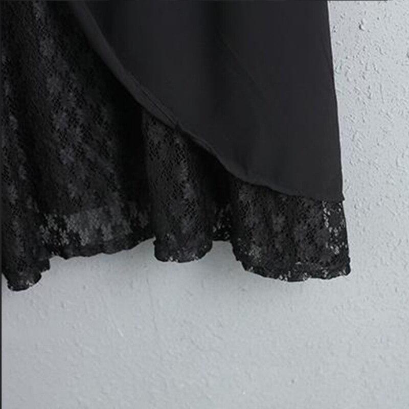 Dentelle Taille Buykud À Décontracté Longues Plus Femmes Printemps 2018 Style Robes Élégant Parti Doublure Rond Robe Avec Manches cou qUZqxF