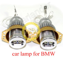 For E90 E91 3 Series 1Pair No Error LED Marker Halo Ring Lamps White   10W Angel Eye Lights high quality
