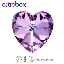Urocze serce kształt kryształowy wisiorek Rhinestone K9 szkło luźne kamienie dla DIY prezent miłosny kolczyk naszyjnik walentynki