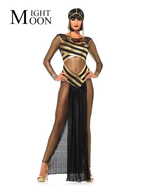 eebffbbcb85 US $24.46 19% di SCONTO|MOONIGHT Disfraces Carnaval Adultos Cosplay  Egiziana Cleopatra Costume Gotico Sexy Costumi di Halloween Per Le Donne in  ...