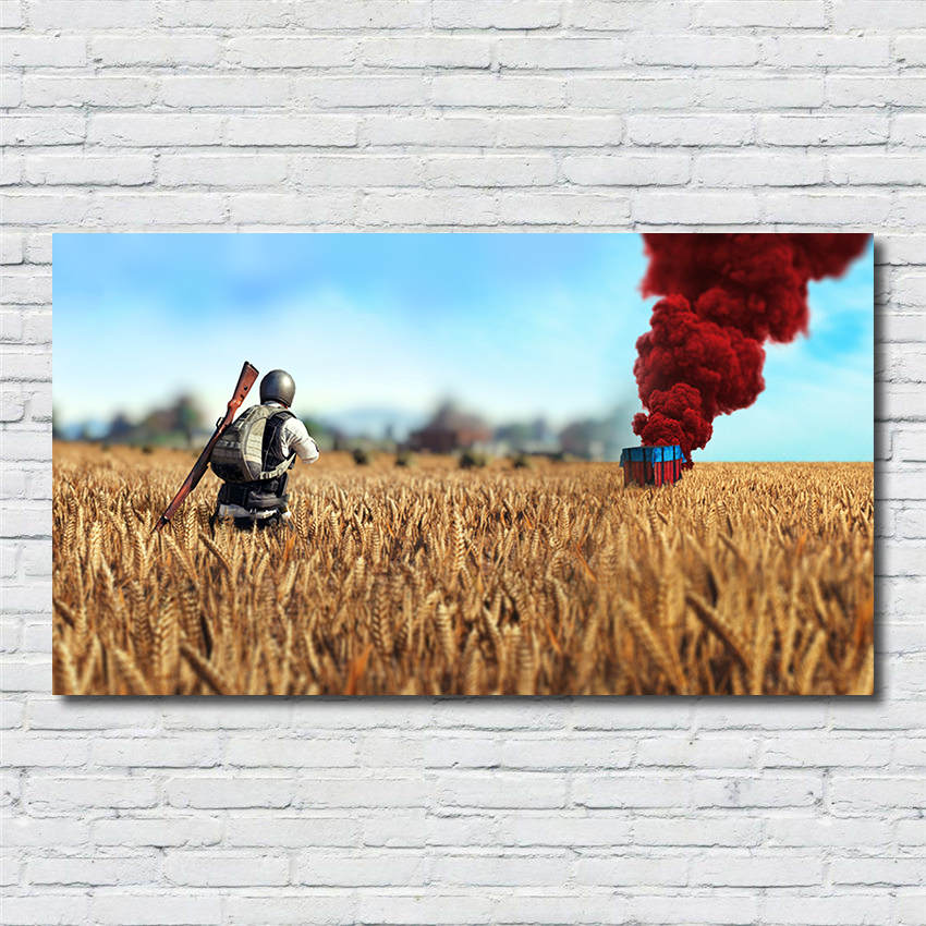 Home Decor Suppliers: Wall Art PUBG Game Poster Home Decor Airborne Supplies