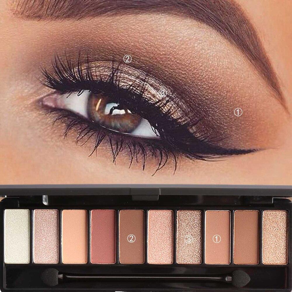 Professional 10 Colors Makeup Eye Shadow Eyeshadow Palette Shimmer Matte Eye Shadow Cosmetics Beauty New Beauty & Health