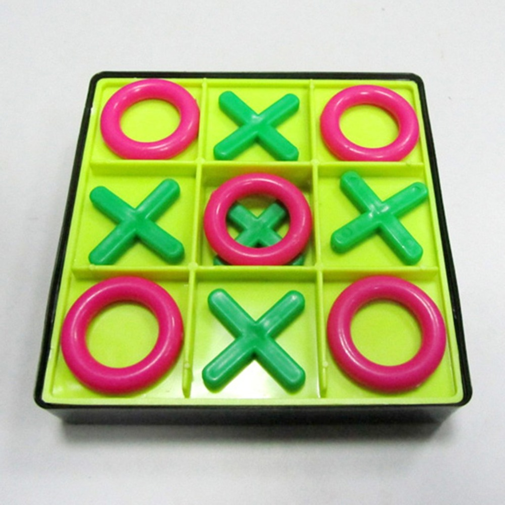 Parent-Child Interaction Leisure Board Game OX Chess Funny Developing Intelligent Educational Toys