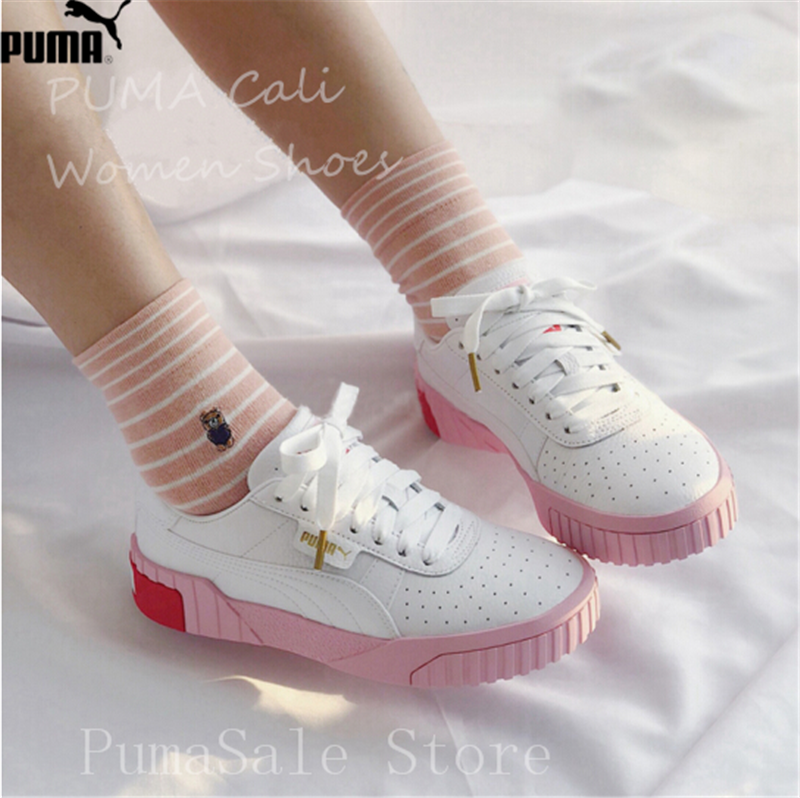 PUMA Women s Cali Sneaker 369155-02 Rihanna Basket Platform Euphoria Metal  Women Badminton Shoes Pink Upper Women Shoes 35-39 c95495dde
