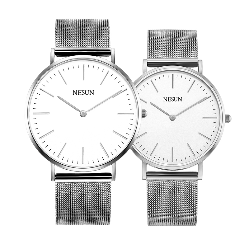 Switzerland Nesun Watch Men & Women Luxury Brand Japan MIYOTA Quartz Movement Lover's Watches Sapphire Waterproof Clock N8801-L3