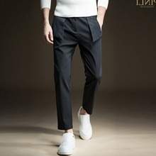 Free Shipping New fashion 2016 casual male Men's personalized Slim autumn casual Pencil Pants Trousers B163617316 jeans