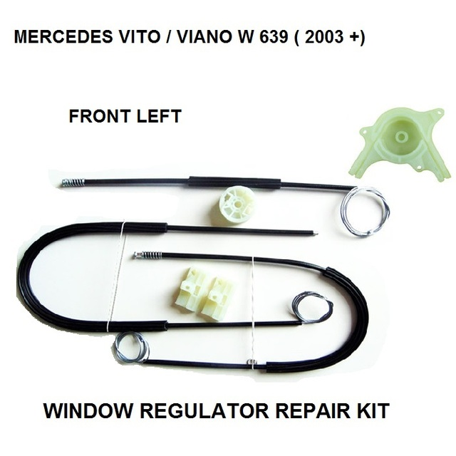 FOR MERCEDES VITO / VIANO W 639 WINDOW REGULATOR REPAIR KIT FRONT-LEFT FROM 2003