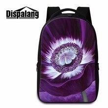 Dispalang мода ноутбук рюкзаки цветочные принты ближний средней школы сумки для девочек-подростков случайные путешествия ноутбук сумка