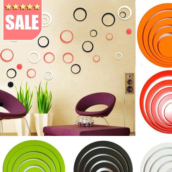Nueva Moda de baño Decoración Del hogar Home 3D Wall Art Stickers Multi Colores
