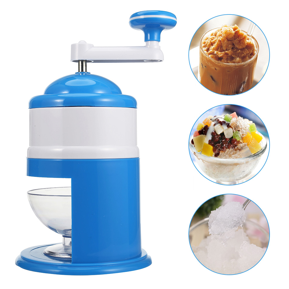 Stainless Steel Household Handhold Manual Ice Crusher Hand Shaved Ice Machine For Shaved Ice Snow Cones Slushies