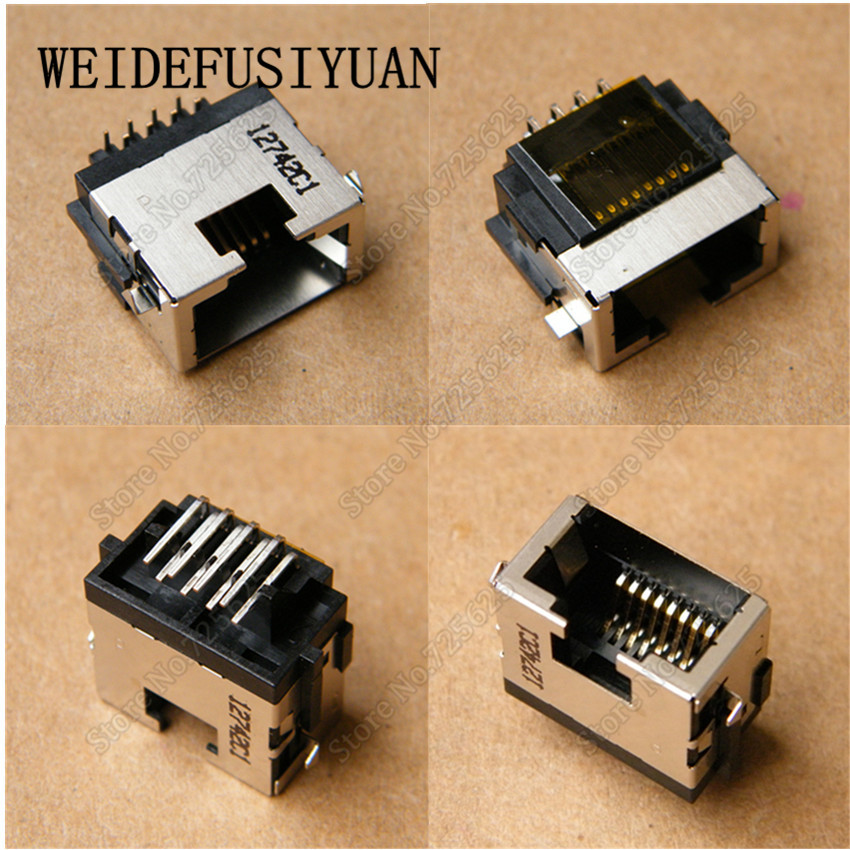 Laptop LAN Jack Socket Connector for ASUS X54 X54L X54LY X54H X54HR X54C RJ45 Port 10x for asus x52e x53j x53s x54 x54h laptop ac dc power jack port socket connector plug