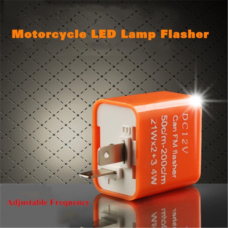 Turn Signal Flasher Relay 12V 2 Pin Speed Adjustable LED Flasher Blinker Turn Signal Relay Motorcycle LED Indicator Light Black Control Flash for Motorcycle Motorbike