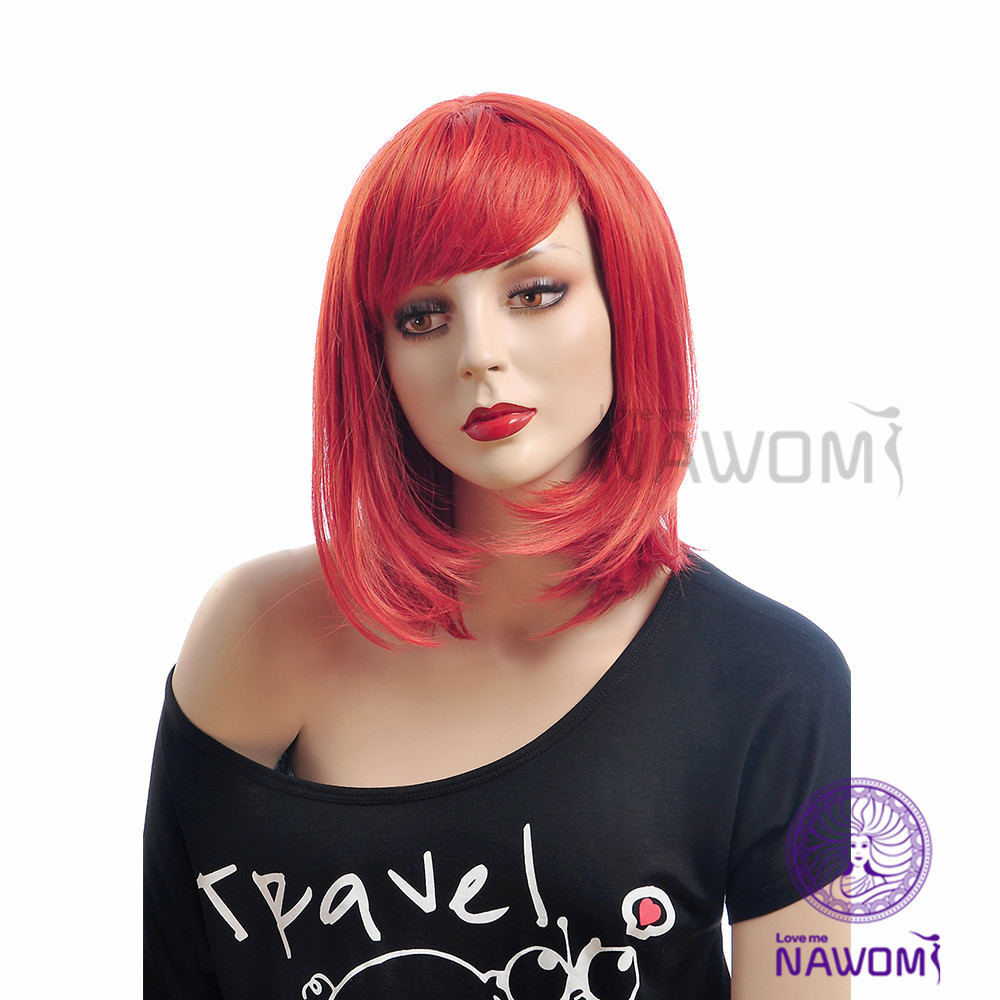 Free shipping Cheap bright red wigs fashion Chinese wig for young women  bangs hot wigs on Aliexpress.com  c5f88f7b84cc