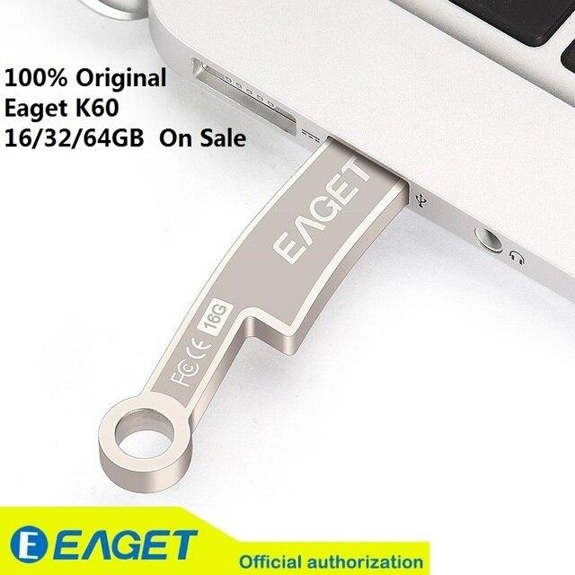Nueva manera!! k60 eaget usb 3.0 flash drives pen drive 32g cuchillo de Monedas Antiguas de Metal A Prueba de agua Regalo de Memoria 16G 64 GB En venta