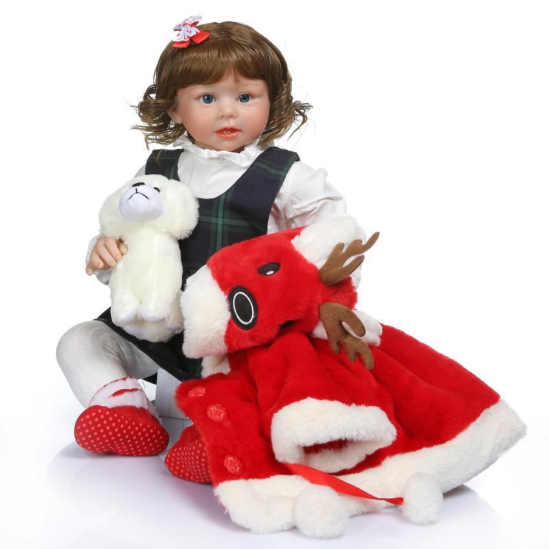 70 см большие силиконовые Reborn Реалистичная кукла ткани тела модные ребенок малыш дети игрушки подарок Костюмы модель для фотосессий N2
