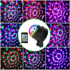 Image 3 - ALIEN 4W 15 Colors Sound Activated Crystal Magic Ball RGB LED Stage Lighting Effect Party DJ Disco Lamp With Remote Controller