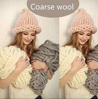 250グラム/ロール粗いウールアイスランドウール糸大きな太い糸用編み帽子/カーペットマットハンド編みかぎ針編み糸20