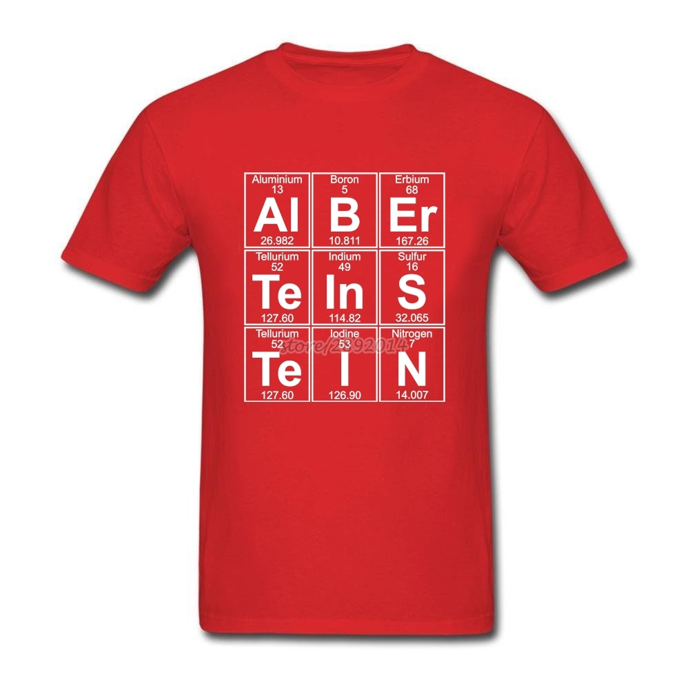 Albert Einstein Shirts font b Chemistry b font Big Size Top Crewneck Cotton Short Sleeve Bespoke