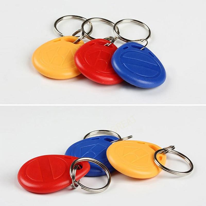 Newly 10pcs RFID Key Fobs Token Tags EM4100 Durable Waterproof Keychain ID Card Read DC128