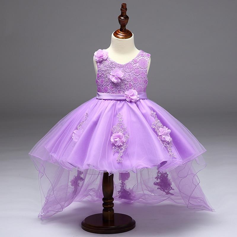 Elegant Fishtail Girls Purple Tutu Princess Dress Baby Bridesmaid ...