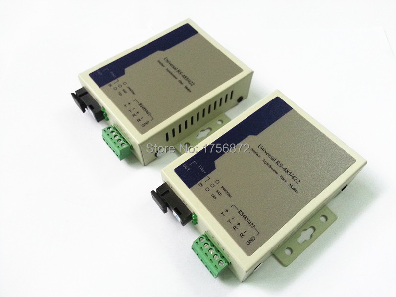 2pcs/lot RS485/422 to Optic Fiber Modem Singlemode SC 20km rs485/422 to ethernet fiber converter2pcs/lot RS485/422 to Optic Fiber Modem Singlemode SC 20km rs485/422 to ethernet fiber converter