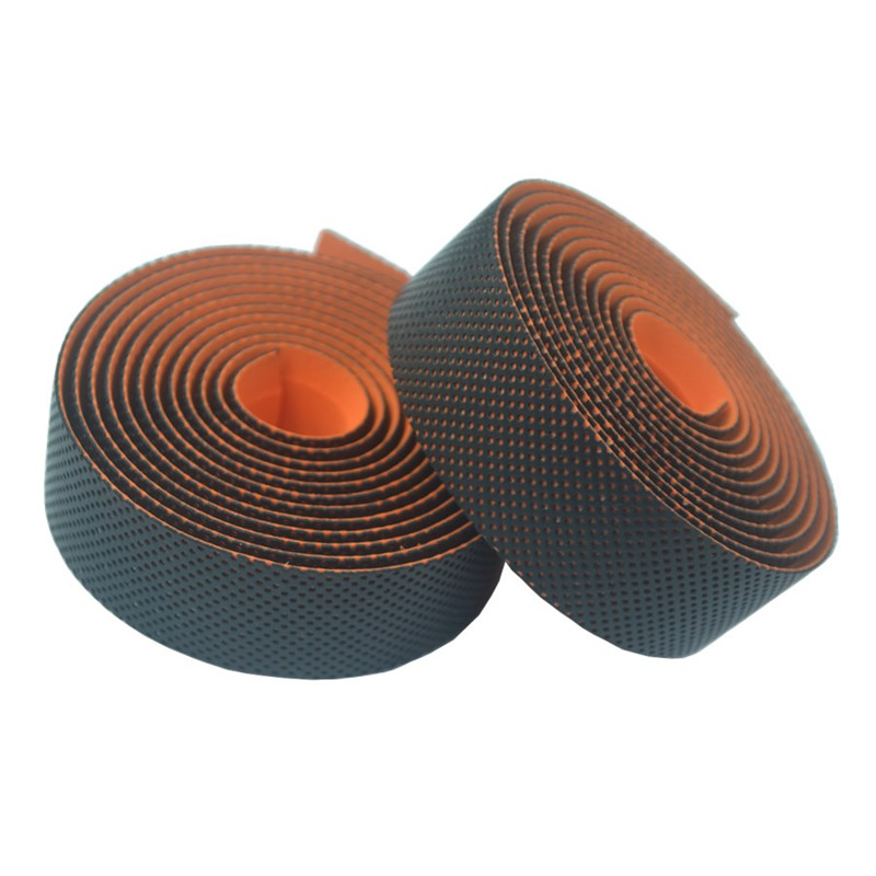 NEW 2.16M PU Road Bike HandleBar Tape Anti-slip EVA Bicycle Grips Cork Leather Handlebar Adhesive Bar Plugs Belt Straps