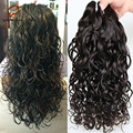Brazillian Deep Curly Virgin Hair 3pcs Unprocessed Brazilian Water Wave Virgin Hair Curly Natural Weave Bouncy Curly Hair Bundle
