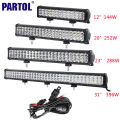 "Partol 12"" 20"" 23"" 31"" 3-Row 6D LED Light Bar Offroad Led Bar Combo Beam Driving Work Light Truck SUV ATV 4x4 4WD CREE Chips 12V"