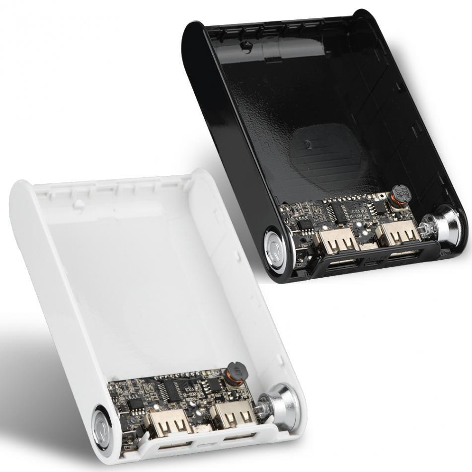 (No <font><b>Battery</b></font>) DIY Kit Mobile Power Bank <font><b>Case</b></font> Portable 12000mAh Fast Charging Dual USB <font><b>Battery</b></font> Box Outdoor Travel Sport Universal