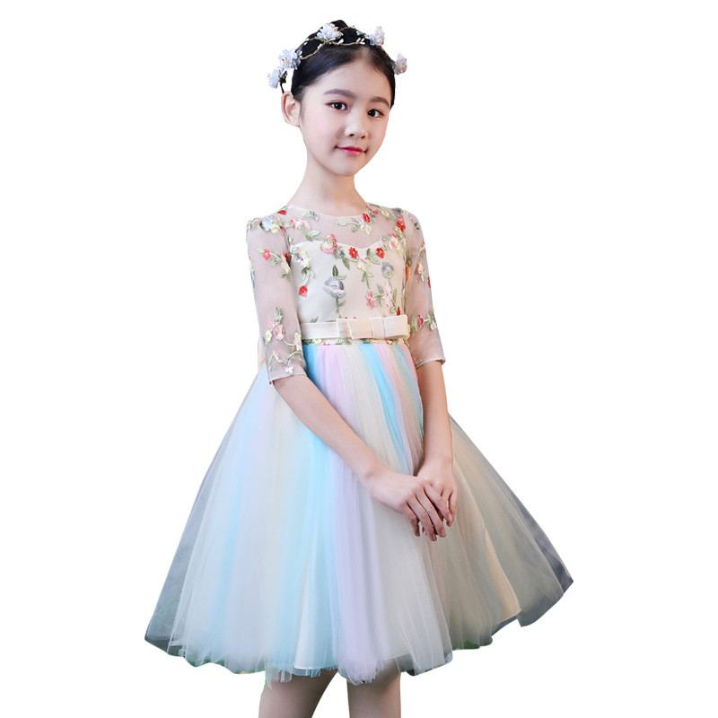 New Teenage Girl Lace Embroidery Bow Tutu Princess Dress Kids Dresses For Girls Birthday Party Toddler Girl Clothes Vestido F127New Teenage Girl Lace Embroidery Bow Tutu Princess Dress Kids Dresses For Girls Birthday Party Toddler Girl Clothes Vestido F127