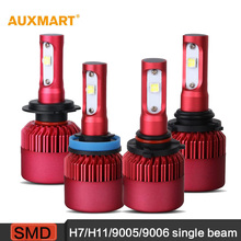 Auxmart G9 H7 H11/H8/H9 9005/HB3 9006/HB4 LED Phare De Voiture 80 W SMD 6500 K 9600LM Projecteur faisceau Unique Brouillard lampe Tout-en-Un 12/24 v