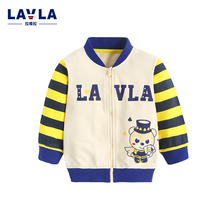 2016 Autumn LAVLA New Kids Clothes Baby Girl Clothes Baby Coats Kids Jacket Cotton Zipper Knitted Long Sleeve Jacket Toddler TOP