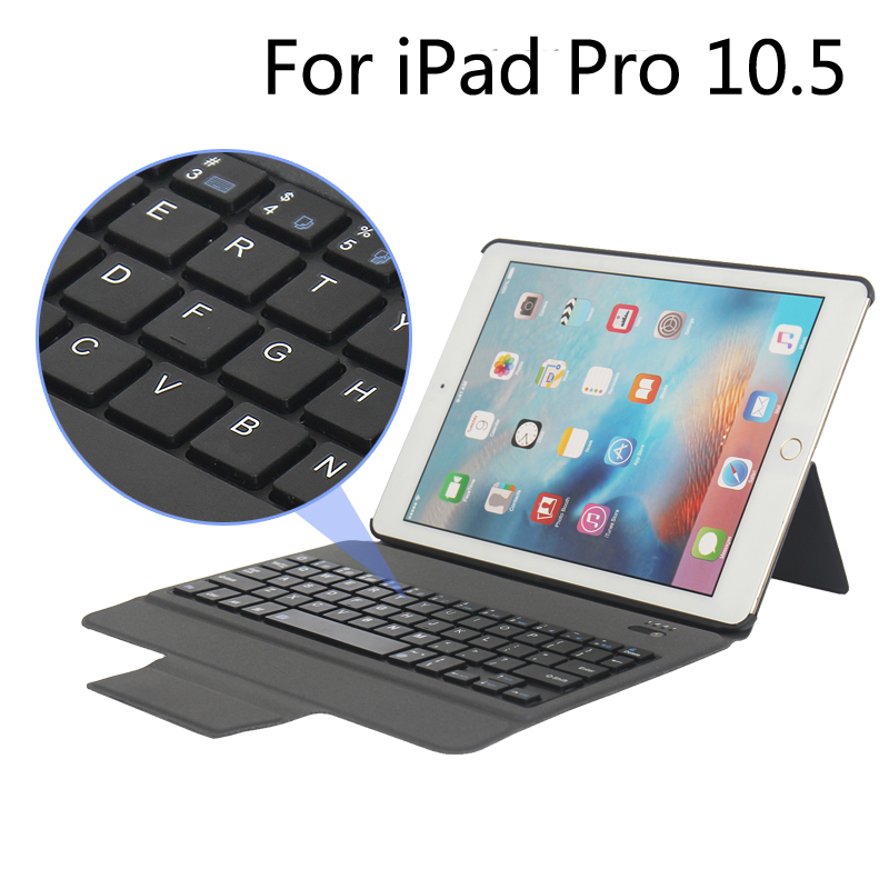 New Bluetooth Keyboard Portfolio Folio PU Leather Case Cover For iPad Pro 10.5 2017 + Gift 2016 new arriving pu leather short wallet the price is right and grand theft auto new fashion anime cartoon purse cool billfold